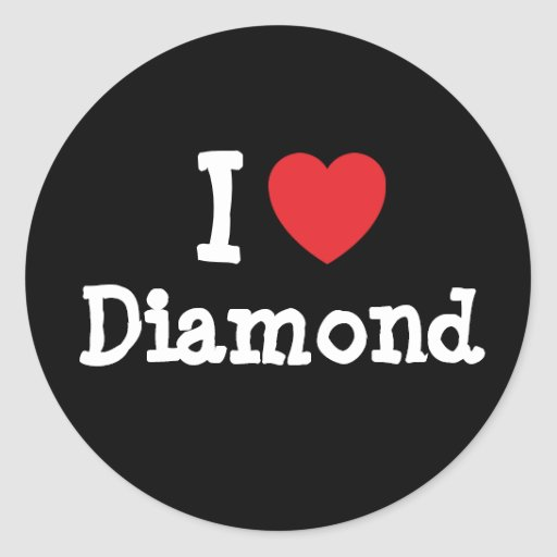 I love Diamond heart T-Shirt Classic Round Sticker