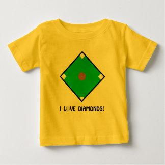 """I Love Diamonds"" Baseball Shirts and Gifts"