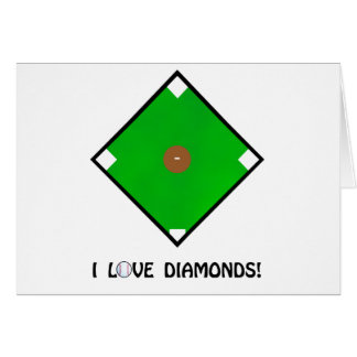 """I Love Diamonds"" Baseball Shirts and Gifts Cards"