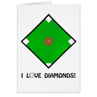 """I Love Diamonds"" Baseball Shirts and Gifts Card"