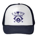 I Love Diamonds Baseball Trucker Hat