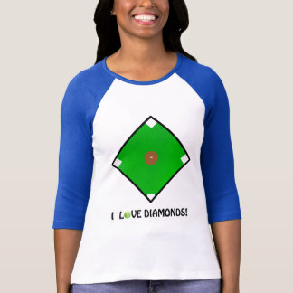 """I Love Diamonds!"" Softball Shirts & Gifts"