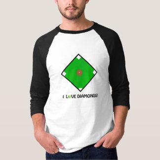 """I Love Diamonds!"" Softball Shirts & Gifts"