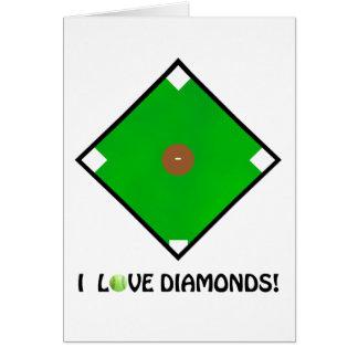 """I Love Diamonds!"" Softball Shirts & Gifts Card"