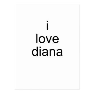 i love diana postcard