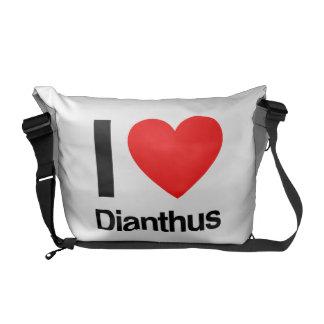 i love dianthus courier bag