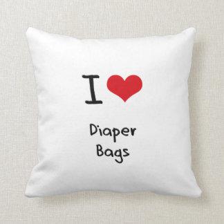 I Love Diaper Bags Throw Pillows