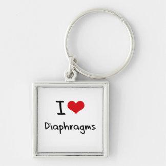 I Love Diaphragms Keychain