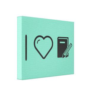 I Love Diary Notes Canvas Print