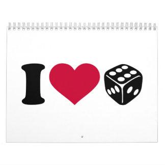 I love dice calendar