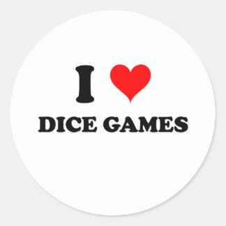 I Love Dice Games Sticker