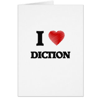 I love Diction Card