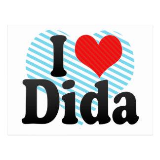 I Love Dida Postcard