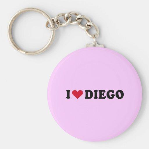 I LOVE DIEGO KEY CHAINS