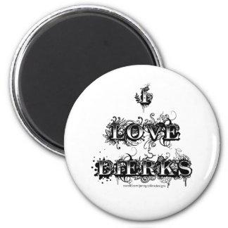 I Love Dierks (Fancy) 2 Inch Round Magnet