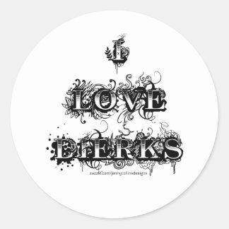 I Love Dierks (Fancy) Classic Round Sticker