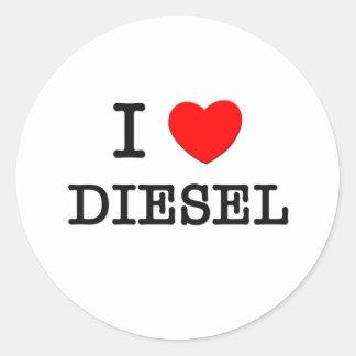 I Love Diesel Classic Round Sticker