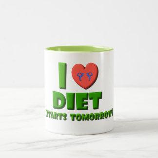 I Love Diet Two-Tone Coffee Mug