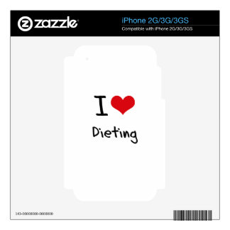 I Love Dieting Decals For iPhone 2G
