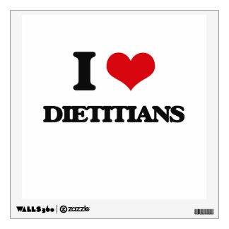 I love Dietitians Wall Stickers
