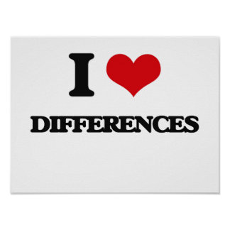 I love Differences Posters