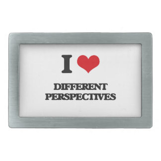 I love Different Perspectives Rectangular Belt Buckle
