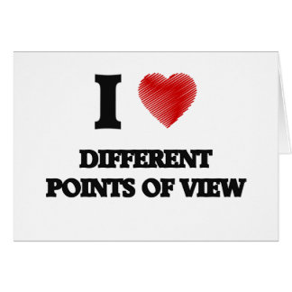 I love Different Points Of View Card