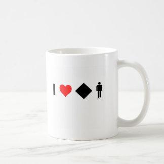 I love difficult men classic white coffee mug
