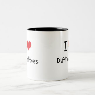 I Love Difficulties Two-Tone Coffee Mug