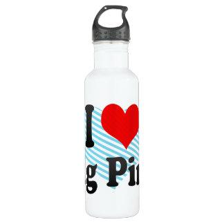 I love Dig Pink 24oz Water Bottle