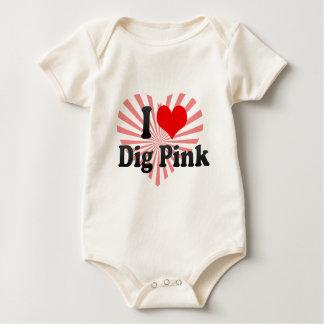 I love Dig Pink Bodysuit