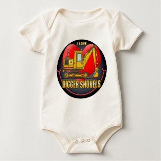 I Love Digger Shovels Infant Creeper