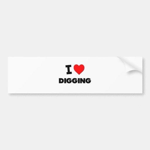 I Love Digging Bumper Stickers