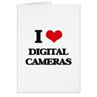 I love Digital Cameras Greeting Card