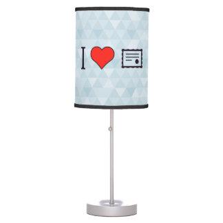 I Love Digital Certificates Table Lamp