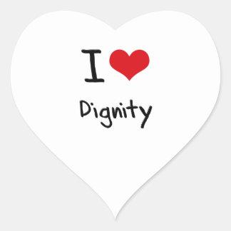 I Love Dignity Heart Sticker
