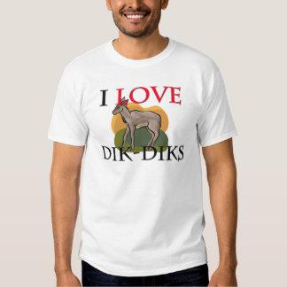 I Love Dik-Diks T-shirts