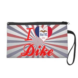 I Love Dike Iowa Wristlet Clutches