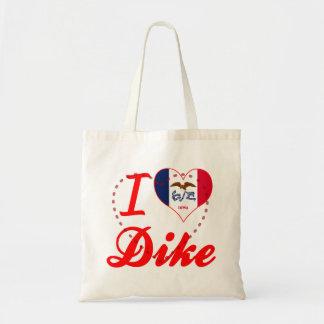 I Love Dike Iowa Canvas Bag