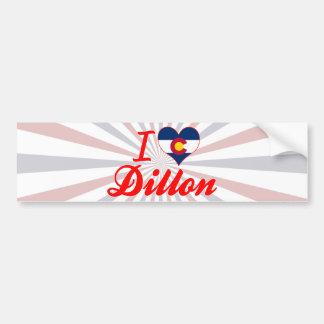 I Love Dillon, Colorado Car Bumper Sticker