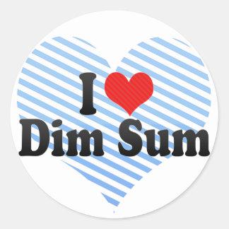 I Love Dim Sum Classic Round Sticker
