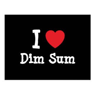 I love Dim Sum heart T-Shirt Postcard
