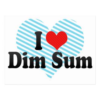 I Love Dim Sum Postcard