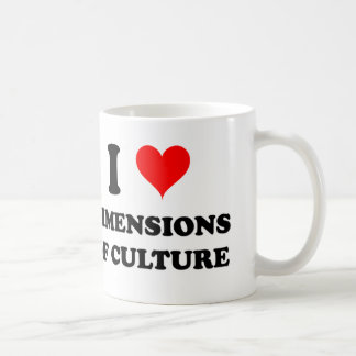 I Love Dimensions Of Culture Classic White Coffee Mug