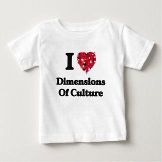 I Love Dimensions Of Culture Shirt