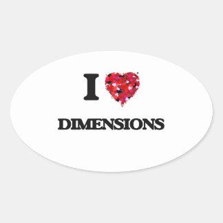 I love Dimensions Oval Sticker