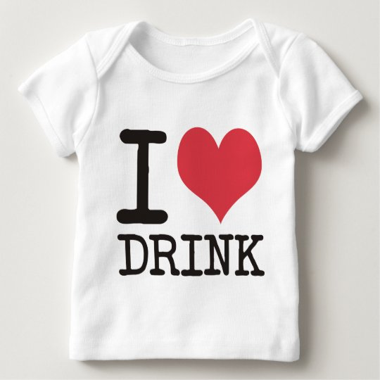 I Love Diner - Dinner - Drink Products & Designs! Baby T-Shirt