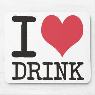 I Love Diner - Dinner - Drink Products & Designs! Mouse Pad