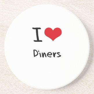 I Love Diners Beverage Coasters