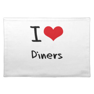 I Love Diners Placemats